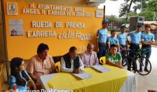 """Presenta Arturo Herviz carrera ciclista """"Cabada Puerta de Los Tuxtlas"""" en su edición 2020"""