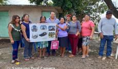 Julio Ortega continúa apoyando colonias por años olvidadas en Catemaco