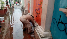 Limpia Pública de San Andrés Tuxtla realiza limpieza en callejones