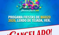 Se suspenden las Fiestas de Marzo 2020 en Lerdo de Tejada la Ciudad de los Brazos Abiertos