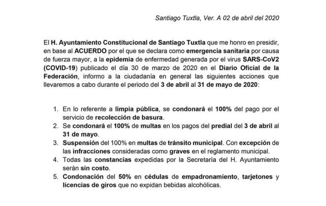 Atentó aviso a la ciudadanía de Santiago, Tuxtla