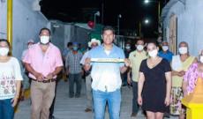 Inaugure pavimentación y alumbrado público en Tres Zapotes: Argeniz Vázquez Copete