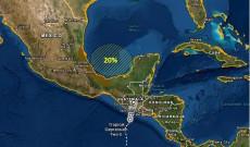 Probabilidades de formarse un huracán en 5 días en sureste del Golfo de México