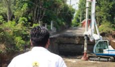 Avanza construcción del puente que comunica a sinapan- Chininiapan en Santiago Tuxtla