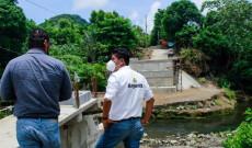 Supervise el puente que comunicará las comunidades Sinapan-Chuniniapan
