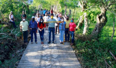 Inauguré la construcción de huellas de la localidad de Salto de Agua: Argeniz Vázquez Copete