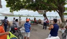 Apoyan en materia de prevención a negocios en Tlacotalpan ante COVID-19