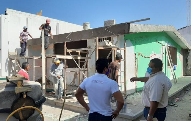 Supervisa Christian Romero obras en Tlacotalpan