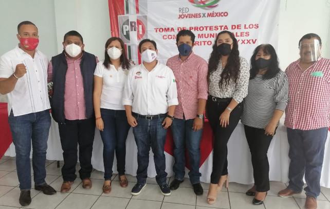 Luis Méndez e Ilse Ramírez toman protesta como delegados distritales de la red jóvenes por México en los distritos XXIV y XXV