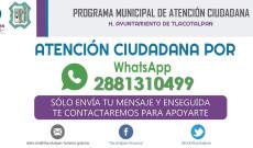 Ayuntamiento de Tlacotalpan atiende a la ciudadanía por medios electrónicos y redes sociales