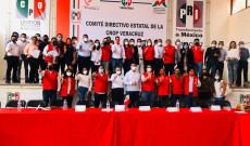 Toman protesta  secretarios generales y secretarios de la coordinación ejecutiva  de la CNOP del distrito XXIV
