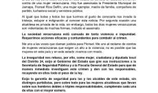 Se pronuncia en contra, la Diputada Kristel Hernández Topete ante el asesinato de la alcaldesa Florisel Ríos Delfín