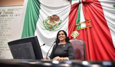 Diputada Linares Capitanachi, presidenta de la Mesa Directiva de la LXV Legislatura