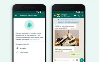 Ya puedes enviar en WhatsApp mensajes que se autodestruyen